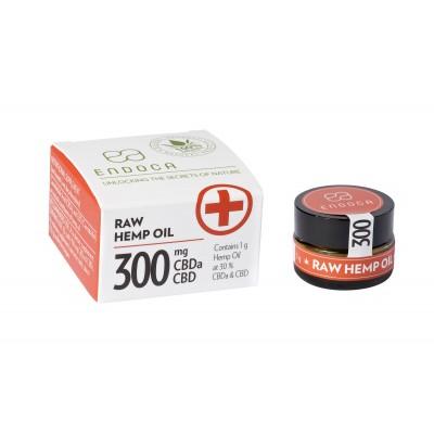 Pasta konopna Golden RAW 30% 300mg CBDa+CBD 1g Endoca