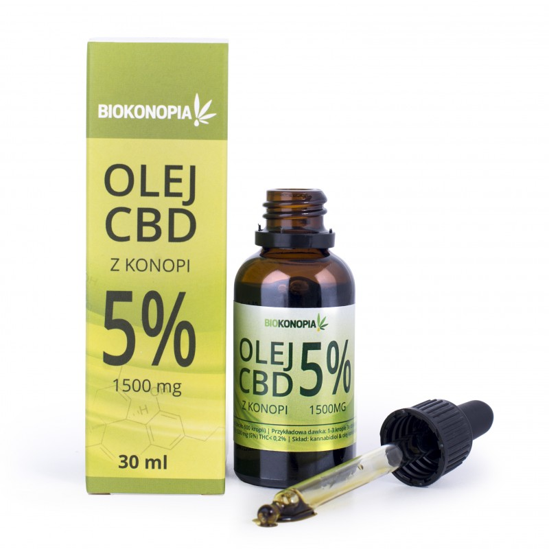 Olej z konopi 5% 1500mg CBD 30ml