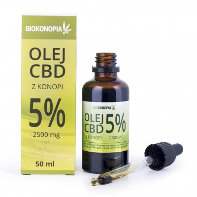 Olej z konopi 5% 2500mg CBD 50ml