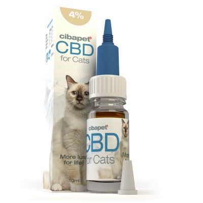 Olejek CBD 4% dla kotów 10ml Cibapet