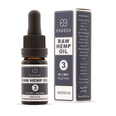 Olejek konopny RAW 3% 300mg CBDa+CBD 10ml Endoca