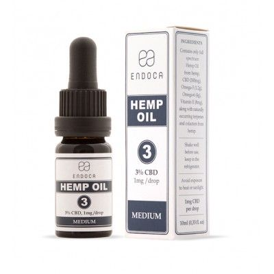 Olejek konopny 3% 300mg CBD 10ml Endoca