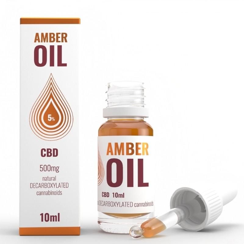 Olejek konopny 5% CBD 10ml Amber Oil