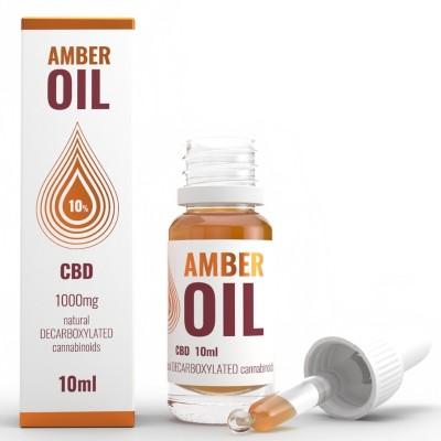 Olejek konopny 10% CBD 10ml Amber Oil