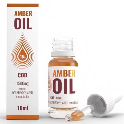 Olejek konopny 15% CBD 10ml Amber Oil