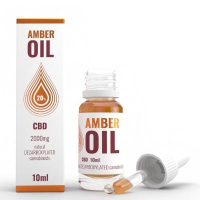 Olejek konopny 20% CBD 10ml Amber Oil
