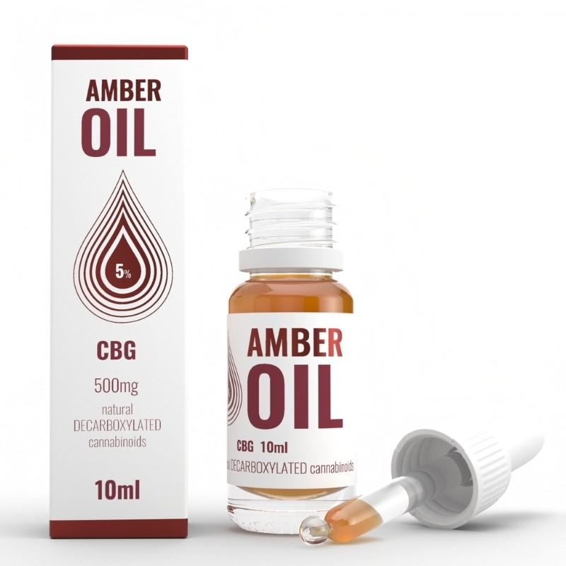 Olejek konopny 5% CBG 10ml Amber Oil