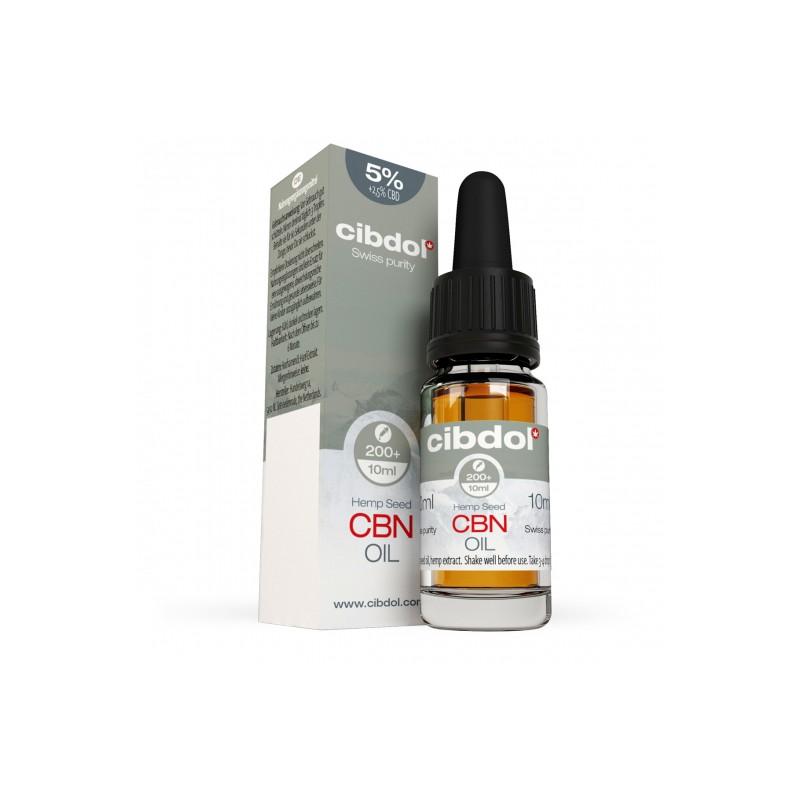 Olejek konopny CBN 5% CBD 2,5% 10ml Cibdol